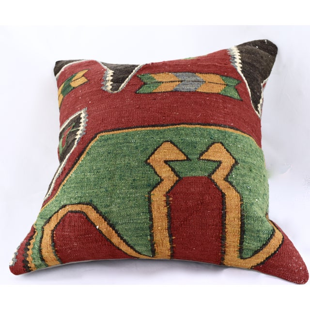Oversized Kilim Accent Pillow - Image 5 of 8