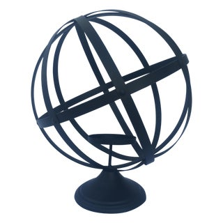Metal Sphere Candle Holder