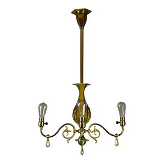 Decorative Victorian Converted Gas Fixture by R. Williamson & Co.