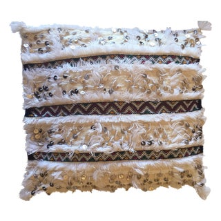 Handmade Moroccan Wedding Blanket Pillow Cover