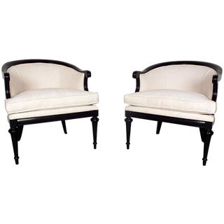 1960s Hollywood Regency-Style Bergeres - A Pair