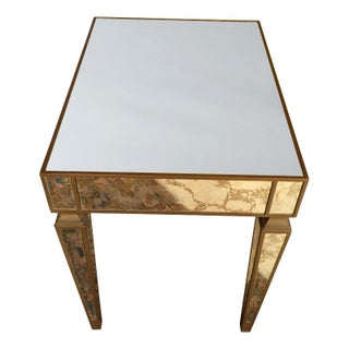 Gold Veined Mirrored Tables - A Pair