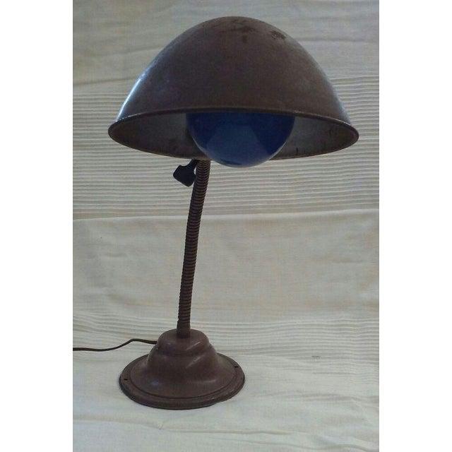 offered is an antique industrial metal adjustable desk lamp filled. Black Bedroom Furniture Sets. Home Design Ideas