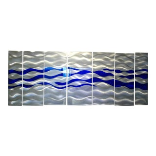 Metal Ocean Wave Paneled Wall Art by Jon Allen
