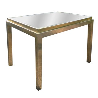 Maison Jansen Gilt Metal Mirrored Side Table