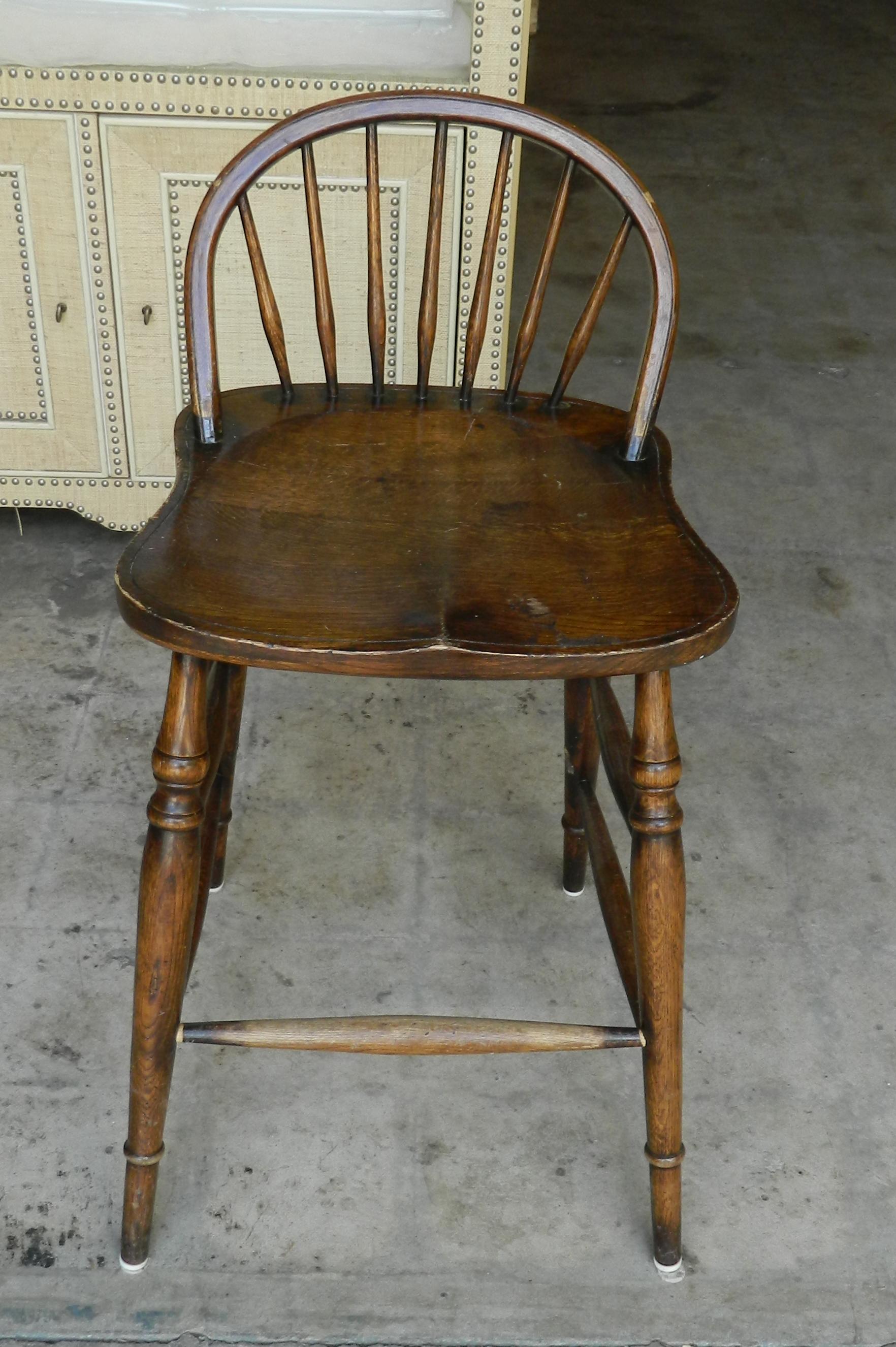 Windsor Style Counter Stools Set Of 4 Chairish
