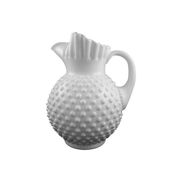 Fenton Hobnail Milk Glass Beverage Service - 5 - Image 2 of 6