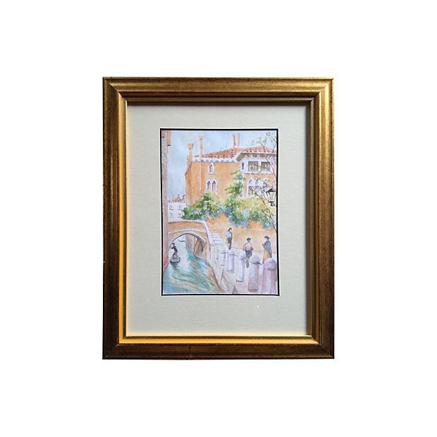 Image of Venice Bridge Watercolor