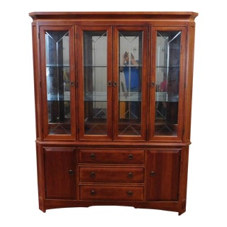 Thomasville Furniture Cherry Mission Style China Cabinet