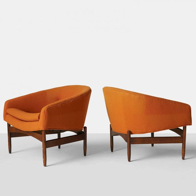 Lawrence Peabody Orange chairs - Image 2 of 7