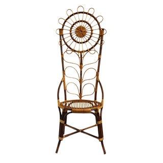 Tall Bamboo Sun Flower Chair