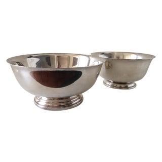 Silver Plate Paul Bowls - A Pair