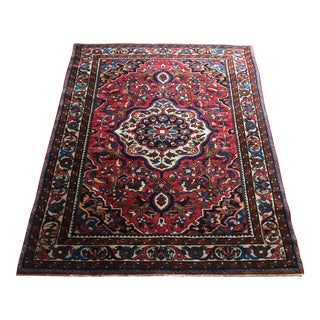 "Antique Baktiari Handmade Wool Carpet -- 3'6"" x 4'8"""