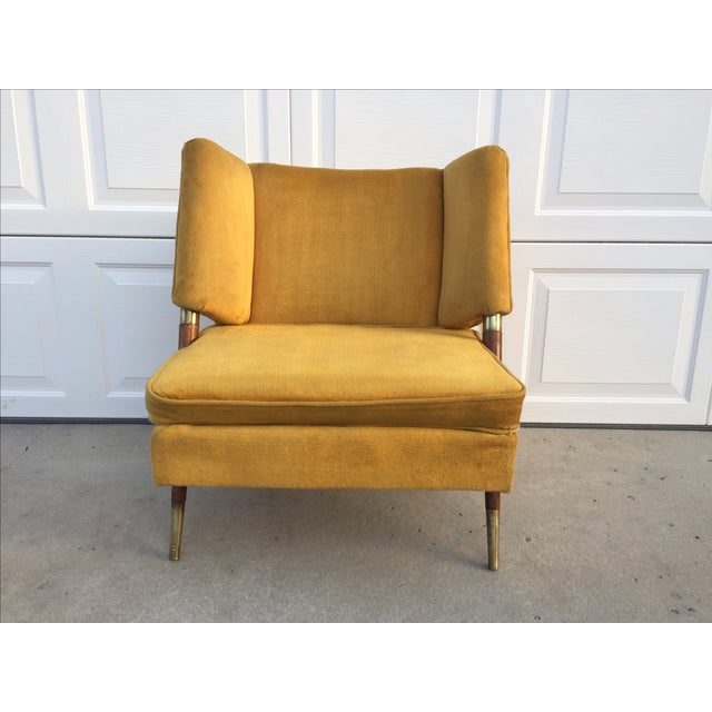 Mid Century Yellow Floating Lounge Chair - Image 3 of 11