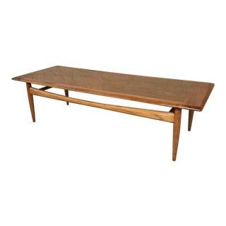 Scandinavian Walnut Coffee Table