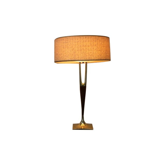 Mid-Century Modern Laurel Wishbone Lamp - Image 1 of 9
