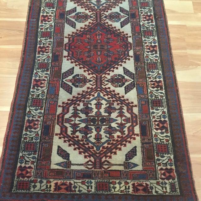 "Vintage Persian Sarab Runner Rug - 2'9"" x 10'7"" - Image 4 of 6"