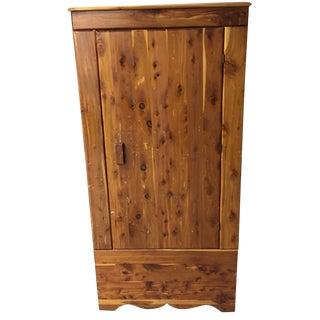 Vintage Cedar Armoire