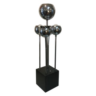 1970s Robert Sonneman Chrome Table Lamp