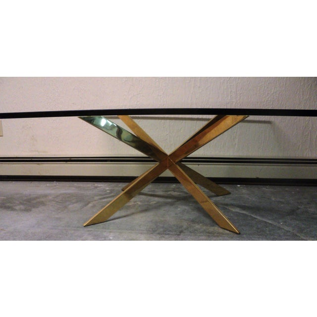 Pace Collection Double X Coffee Table Base - Image 6 of 11