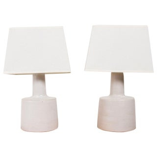 Small Martz Table Lamps, Signed - Pair