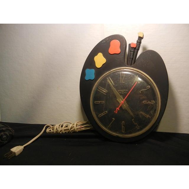 Art Deco Paint Palette Clock - Image 2 of 6