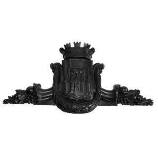 Antique Coat of Arms Pediment