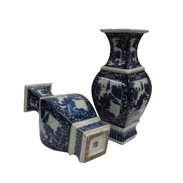 Chinese Blue & White Porcelain Vases - A Pair - Image 4 of 4