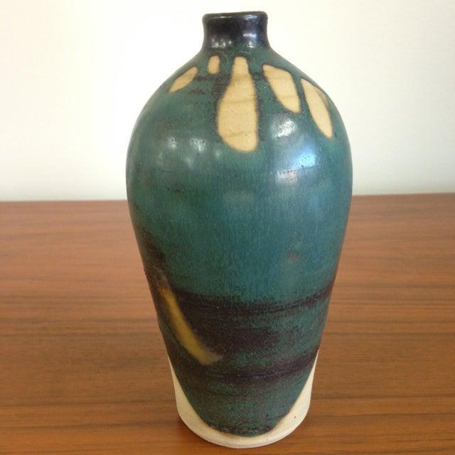 Image of Teal Petite Ceramic Vase