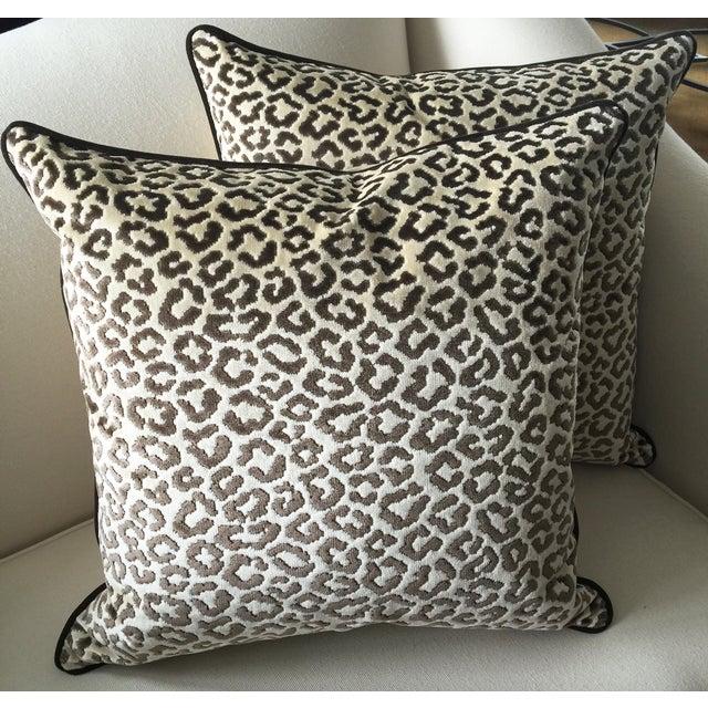 Lee Jofa High End Leopard Velvet Pillows - A Pair - Image 2 of 7