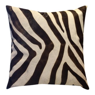 "Oly Studio 24"" Cowhide Pillow in Zebra"