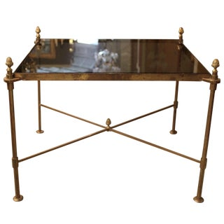 Neoclassical Bronze Side Table