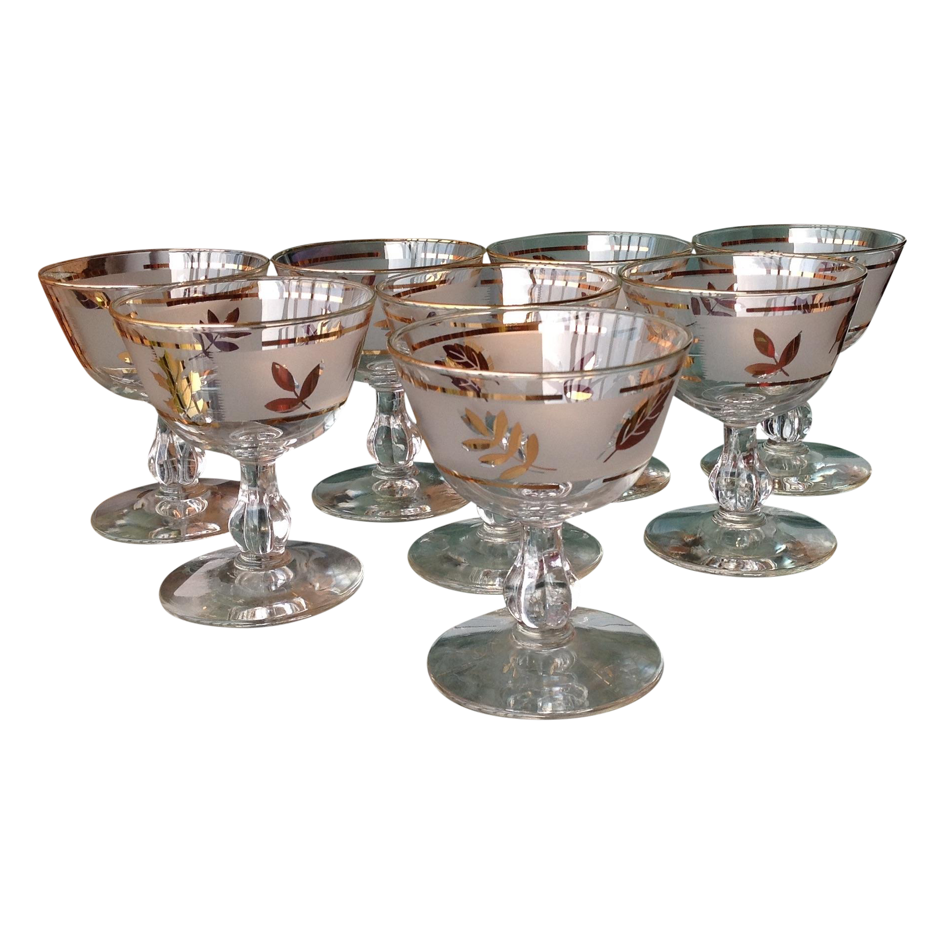 mid century gold leaf cocktail barware 8 chairish
