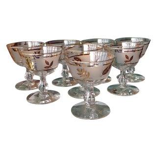 Mid Century Gold Leaf Cocktail Barware - 8