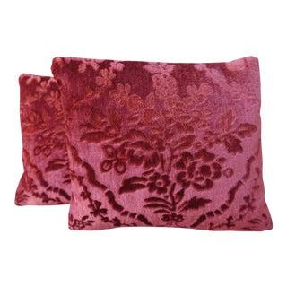Cut Velvet Petite Pillows - A Pair