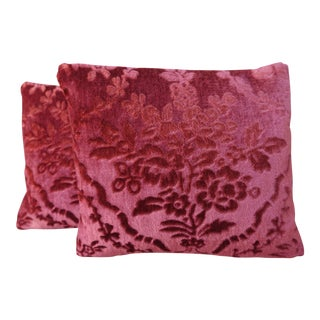Cut Velvet Petite Pillows - A Pair