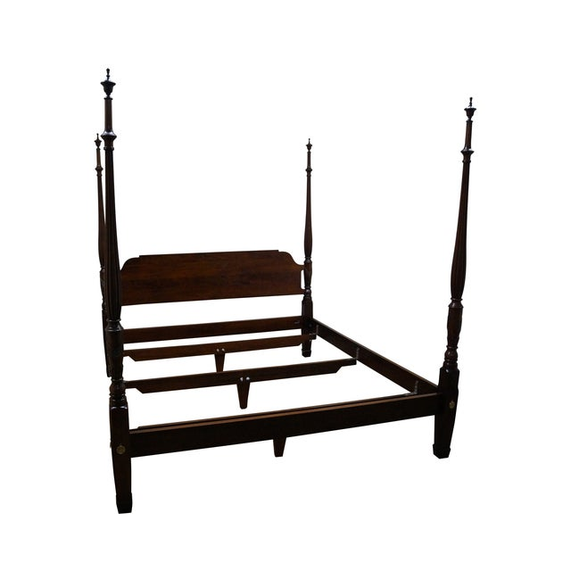 Image of Statton Warfield King Size Mahogany Poster Bed