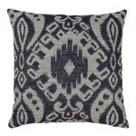 Image of Indigo & Grey Woven Ikat Pillow