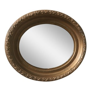 Antique Victorian Gold Oval Mirror