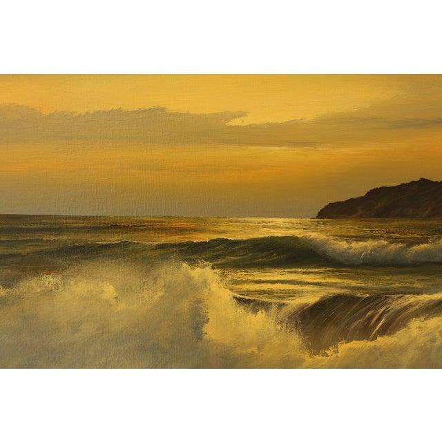 Vintage William Hoffman Seascape Painting - Image 5 of 5