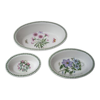 Portmeirion Botanical Oval Baking Dishes - Set of 3