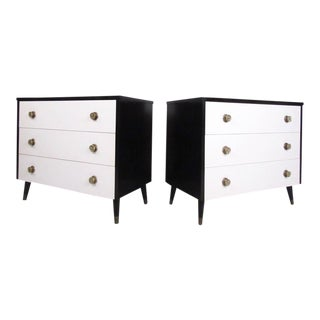 Vintage Modern Italian Style Dressers - A Pair