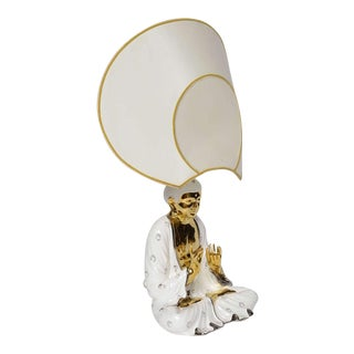 Whimsical Buddha Lamp by Idealux (Signed)