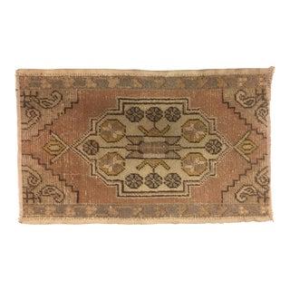 Vintage Turkish Oushak Rug - 1′8″ × 2′9″