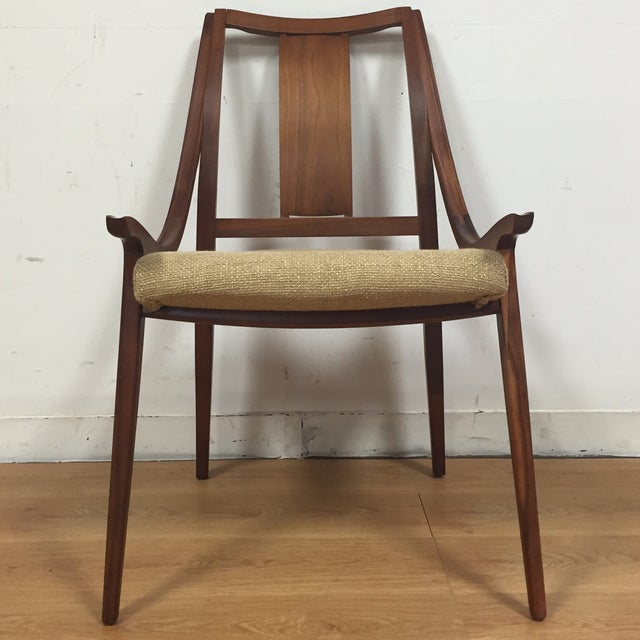 Glenn of California Mid Century Walnut Chair - Image 3 of 11