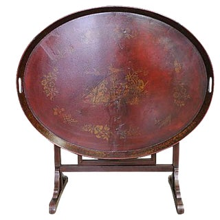 Chinoiserie Tilt Top Tray Table