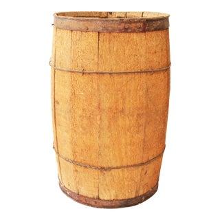 Vintage Rustic Wood Nail Keg