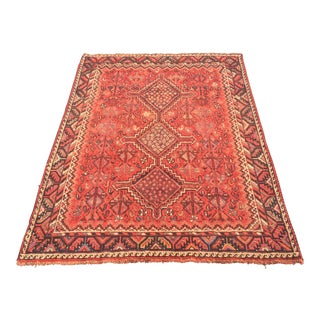 "Antique Persian Shiraz Rug - 3'11""x5'6"""
