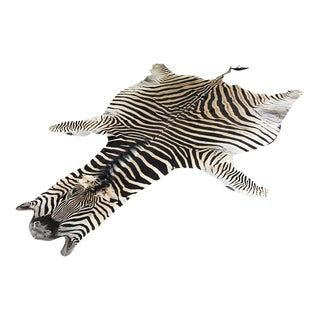 "Natural Zebra Hide Rug - 8'6"" x 6'"