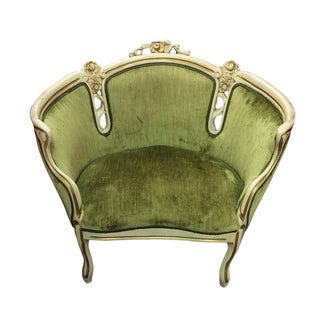 French Provincial Green Settee